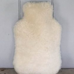 Luxurious Sheepskin Hot Water Bottle Cover Black