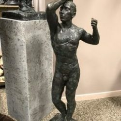 Fine Cast Bronze Sculpture Man Naked from Rodin 93cm