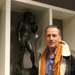 Fine Cast Bronze Sculpture of David 92cm