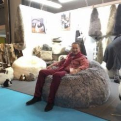 XL Swedish Sumo Sheepskin Two Person Beanbag Taupe