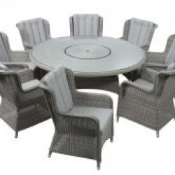 Andora 1.5m Round Dining Suite 6 Chairs