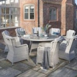 Andora 1.8m Round Dining Suite 8 Chairs
