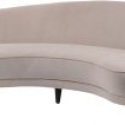 Libra Company Gatsby Taupe Velvet Curved Four Seater Sofa