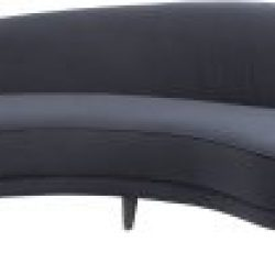 Libra Company Gatsby Black Velvet Curved Four Seater Sofa