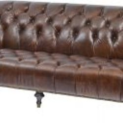 Libra Company Fitzgerald Vintage Brown Leather Three Seater Sofa
