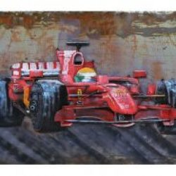 MEAR 72 3D Metal Wall Art Formula 1 Red Racing Car Avant Garden Guernsey