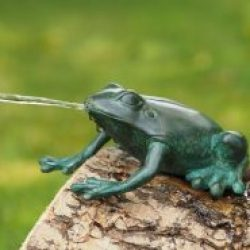 MI 59 Fine Cast Bronze Sculpture Low Frog Fountain 1 Avant Garden Guernsey